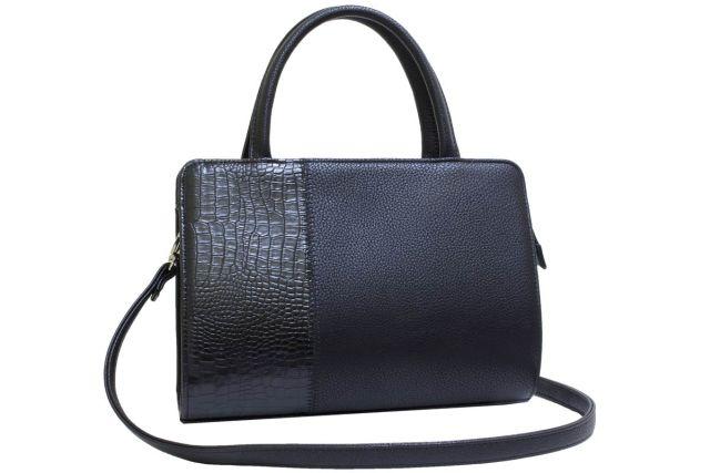 0427 сумка женская черная/черный крок