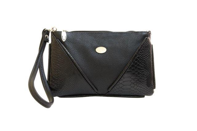 1315 сумка женская черная/черный крок