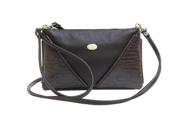 1315 сумка женская коричневая комбинированная