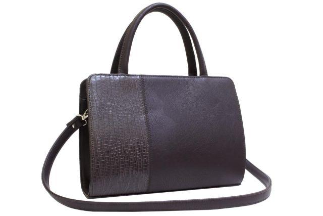 0427 сумка женская коричневая/коричневый крок