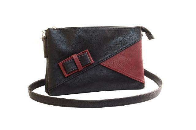 1404 сумка женская черная/бордовая