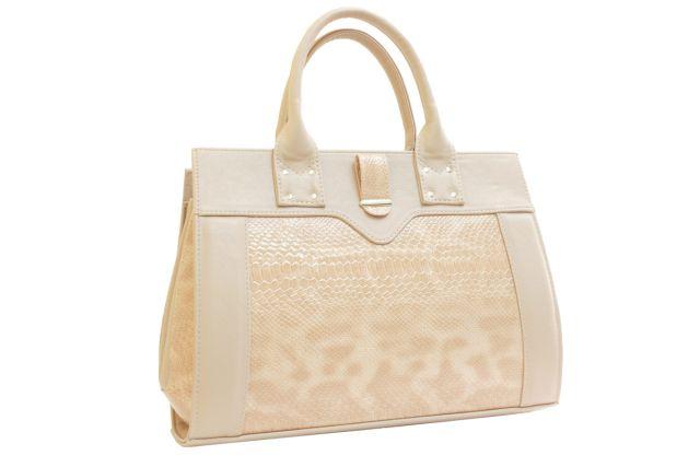 1342 сумка женская бежевый лак/бежевая