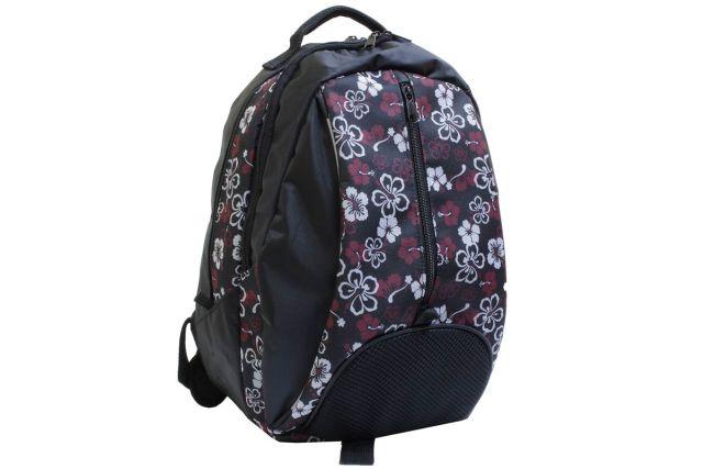0589к рюкзак черный/дизайн цветы