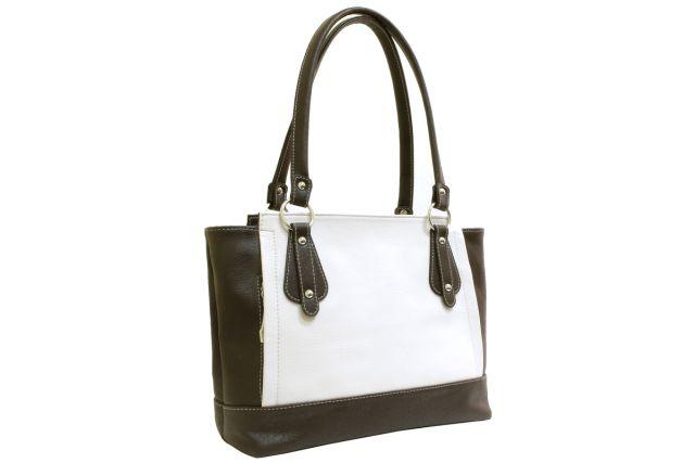 1408 сумка женская бежевая комбинированная/коричневая