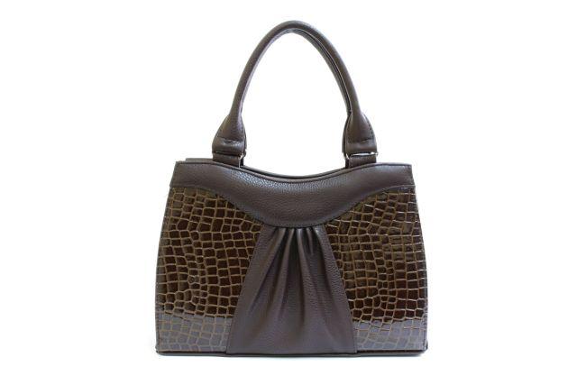 1135 сумка женская коричневая/коричневый лак
