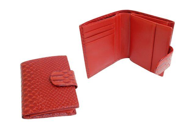 0947н портмоне женское крок красный