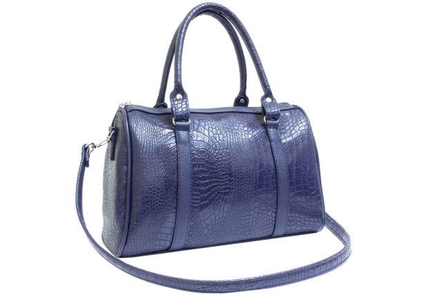 1337 сумка женская синяя с отделкой