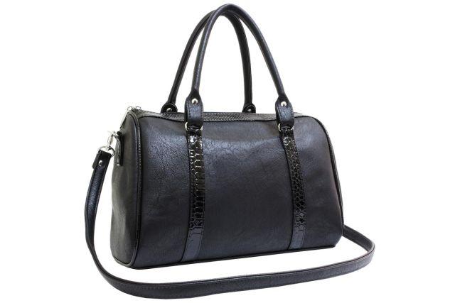 1337 сумка женская черная с отделкой