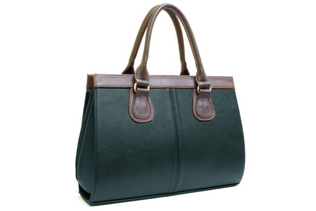 1214 сумка женская черная/коричневая отделка
