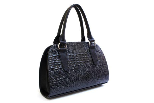 1435 сумка женская черный крок/черная
