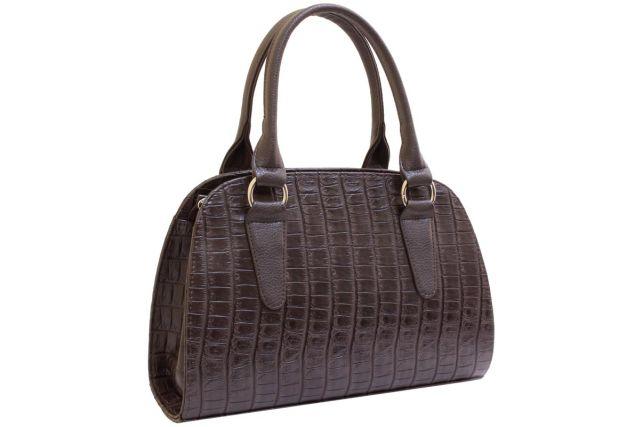 1435 сумка женская коричневый крок/коричневая