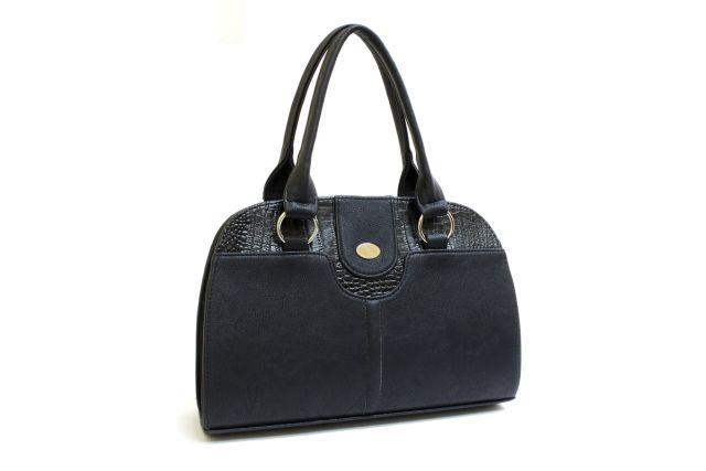 1436 сумка женская черная/черный крок