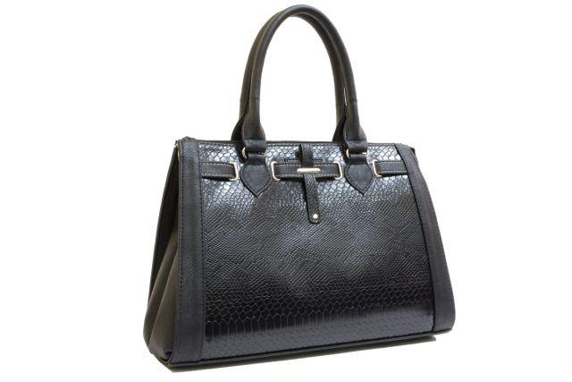 1425 сумка женская черный крок/черная