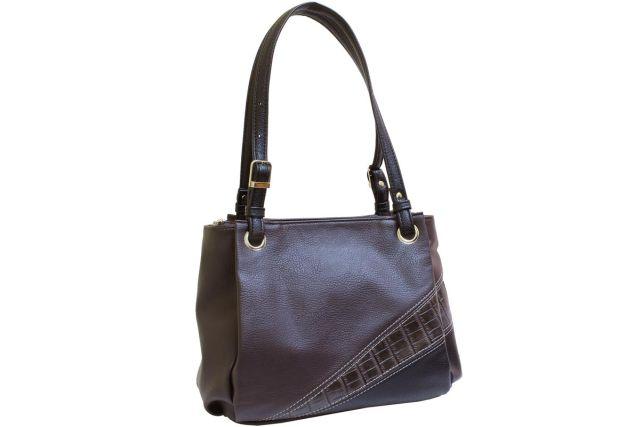 1440 сумка женская коричневая комбинированная/черная