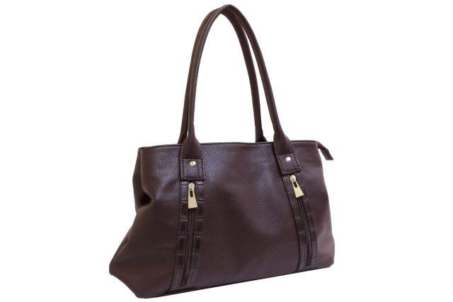 1431 сумка женская коричневая комбинированная