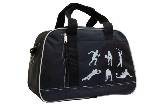 1444к сумка спортивно-дорожная черная