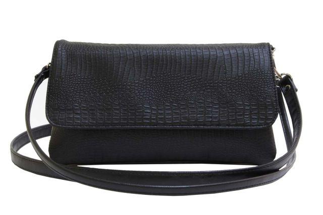 0954 сумка женская черный крок