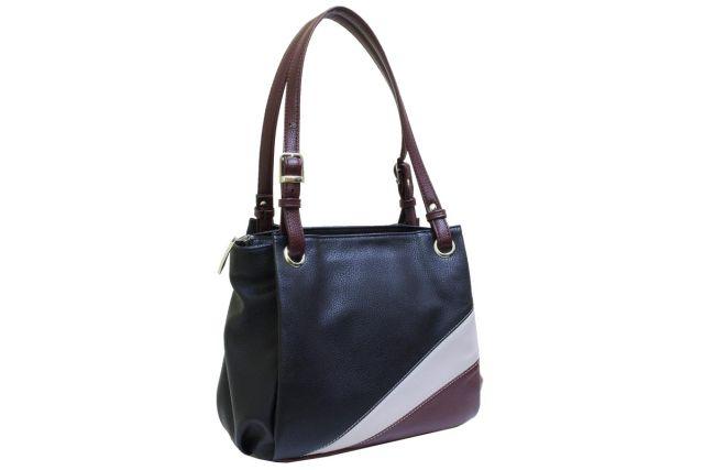 1440 сумка женская черная/серая/бордовая