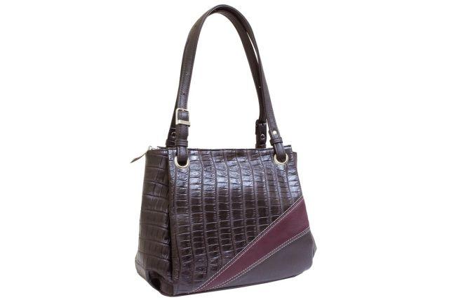 1440 сумка женская коричневая комбинированная
