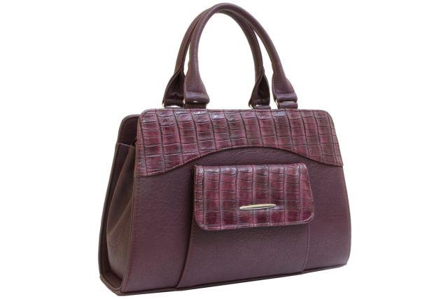 1221 сумка женская бордовый/бордовый крок