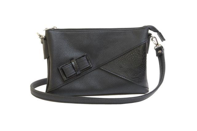 1404 сумка женская черная/черный крок