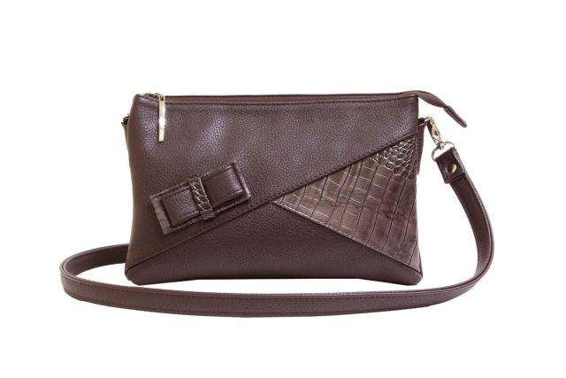 1404 сумка женская коричневая/коричневый крок