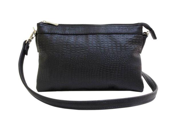 1405 сумка женская черный крок/черная