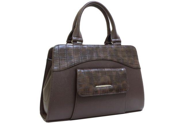 1221 сумка женская коричневая/коричневый крок
