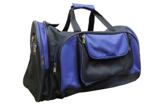 1501к сумка дорожная черная/синяя