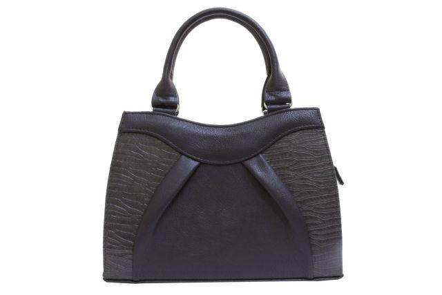 1137 сумка женская коричневая/коричневый крок