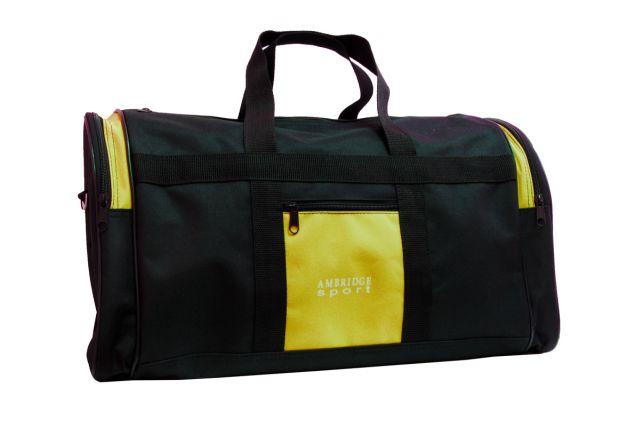 5099к сумка дорожная черно-желтая