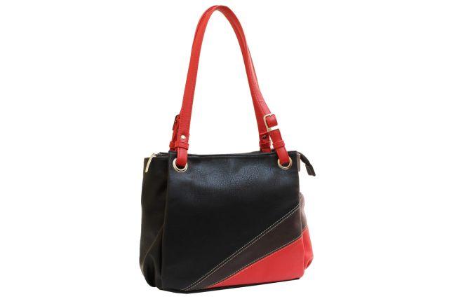 1440 сумка женская черная/красная/коричневая