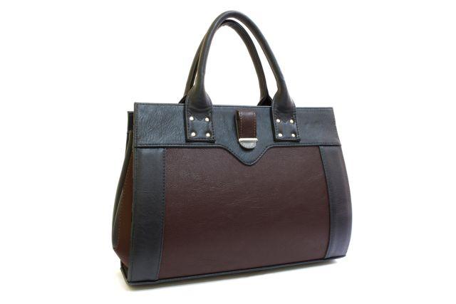 1342 сумка женская черная/коричневая