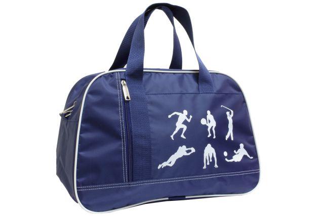 1444к сумка спортивно-дорожная синяя