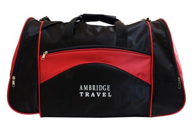 1112к сумка спортивно-дорожная черная/красная