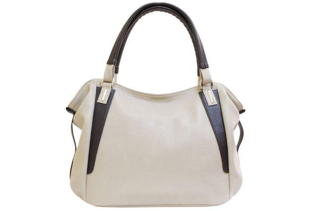 1512 сумка женская бежевая/коричневая