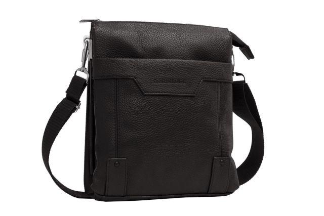 1509 сумка мужская молодежная черная
