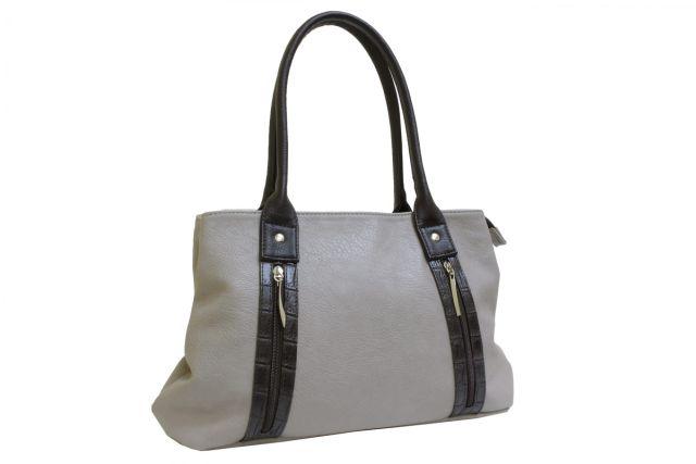 1431 сумка женская темно-бежевая