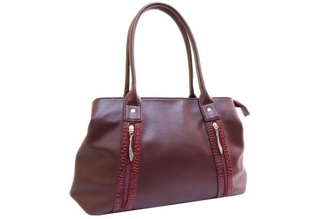 1431 сумка женская бордовая