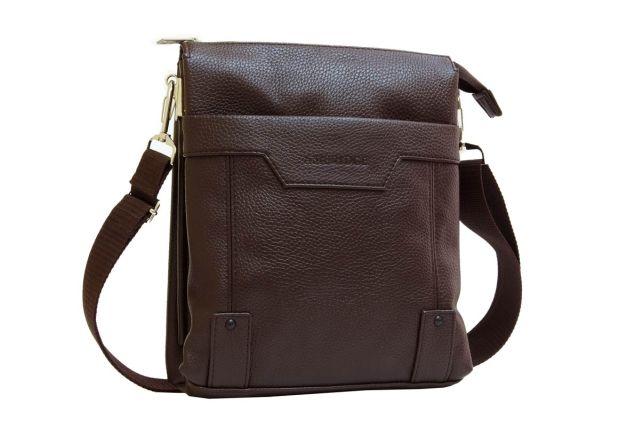 1509 сумка мужская молодежная коричневая