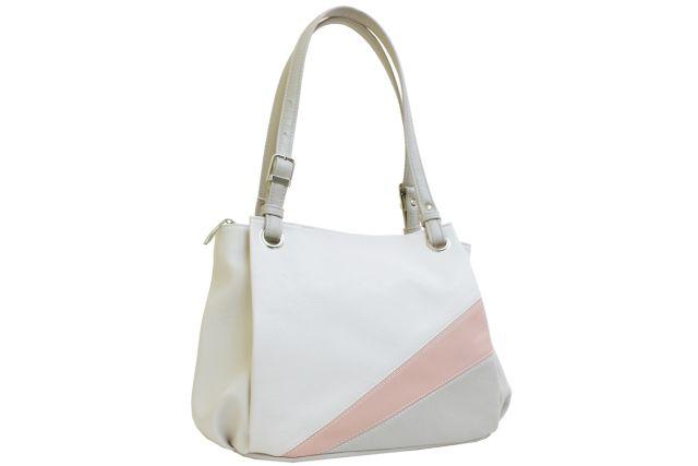 1440 сумка женская бежевая комбинированная