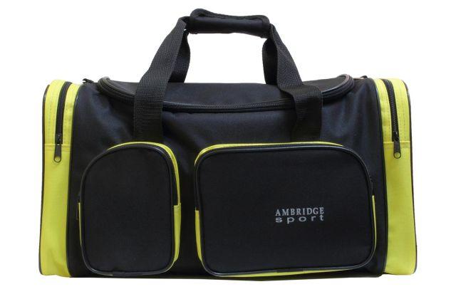 9044к сумка спортивно-дорожная черная/желтая