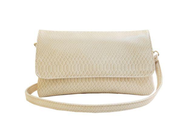 0954 сумка женская бежевый крок