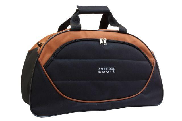 1116к сумка спортивно-дорожная черная/терракотовая