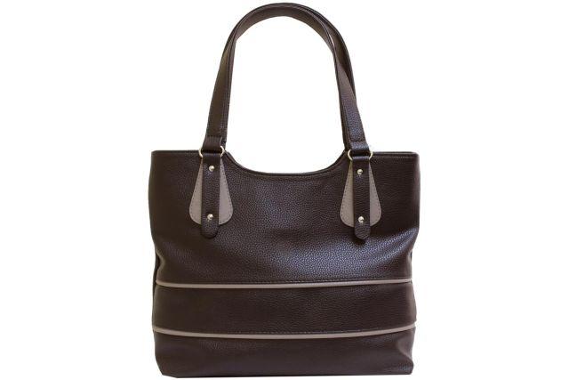 1521 сумка женская коричневая комбинированная