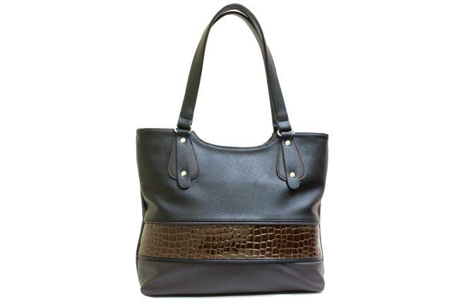 1521 сумка женская черная/коричневая
