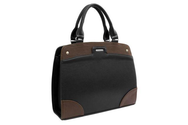 1522 сумка женская черная/коричневая