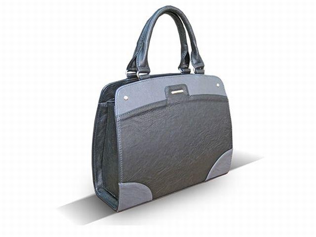 1522 сумка женская черная/серая