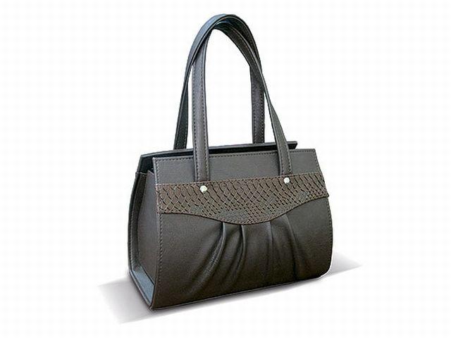 1523 сумка женская коричневая