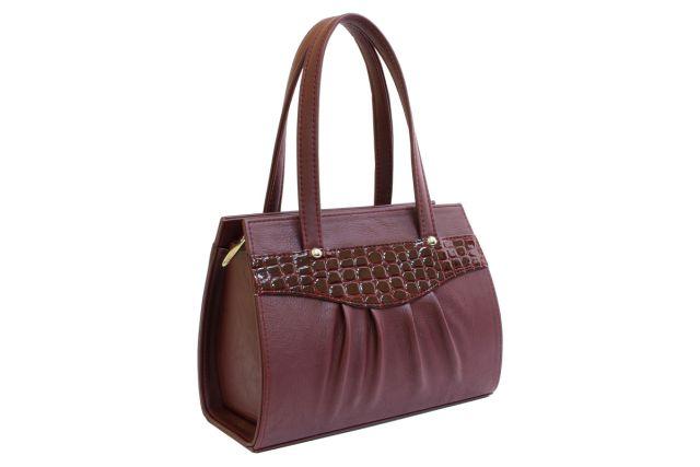 1523 сумка женская бордовая